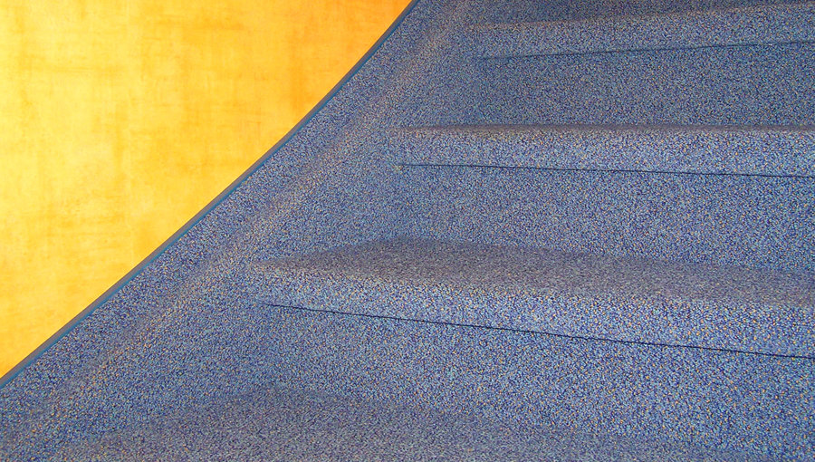 Teppich als Treppenbelag